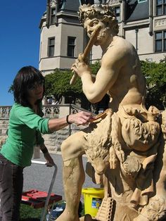 #Biltmore's conservators have been hard at working caring for the garden's outdoor sculptures. www.biltmore.com