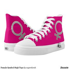 Female Symbol High Tops Printed Shoes for you at www.zazzle.com/superdumb