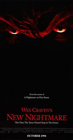 Find more movies like New Nightmare to watch, Latest New Nightmare Trailer, A demonic force has chosen Freddy Krueger as its portal to the real world. Can Heather play the part of Nancy one last time and trap the evil trying to enter our world? Nightmare Movie, New Nightmare, Nightmare On Elm Street, Movie Talk, 2 Movie, Horror Movie Posters, Horror Movies, Funny Horror, Horror Film