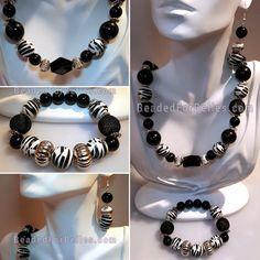 Zebra Print Black and White Set https://www.etsy.com/listing/494327566/black-white-zebra-print-3-pc-jewelry-set