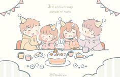 Cute Anime Chibi, Anime Love, Pies Art, Chibi Couple, Cute Kawaii Drawings, Marker Art, Character Drawing, Drawing Reference, Cute Wallpapers