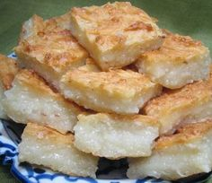 THAI COCONUT CAKE (Khanom Ba-Bin) -- Easy, Low-Fat, Gluten-Free.  Has the texture of angel food cake with the flavor of coconut.