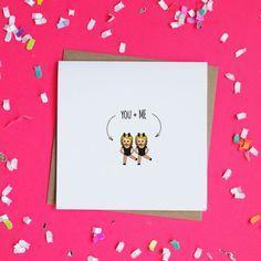 You  Me Emoji Twins Cards / Valentine's Day Card / by ShopMadz