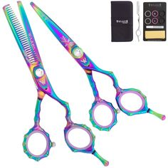 Washi Beauty - Rainbow Bamboo Set w 6.0‰Û Shear 30 Tooth Texturizer, Razor, and Case -- This is an Amazon Affiliate link. You can find out more details at the link of the image.
