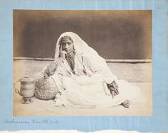 Kashmirian Nautch Girl Photographer: Unknown photographer for Frith's Series Studio Of: Francis Frith Date: ca. 1860–1874 Location: Not on display Century: 19th Century AD Media: Albumen Silver Print On Mount Dimensions: 200 x 249 mm (7 7/8 x 9 13/16 in.)