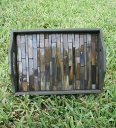 Great gift to give a client after a project using some of their leftover tile. Bathroom or kitchen uses. . .