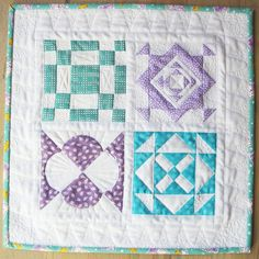 Mini Dear Jane Quilt by twiddletails - using a selection of different blocks