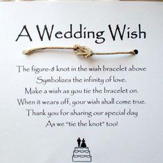 Wedding wish favor.