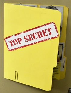 Idea for craft, each kid makes an evidence folder for the work they can take home