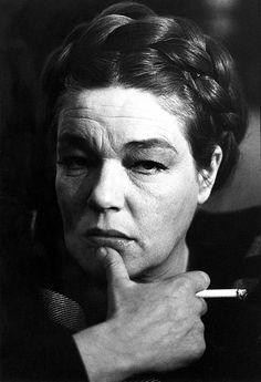 Simone Signoret (1921-1985) - French cinema actress. Photo by Robert Lebeck, London 1966
