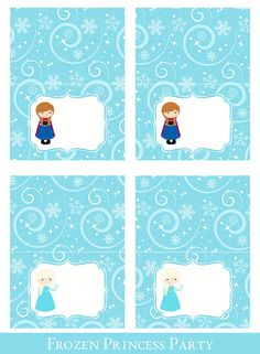 Frozen Tent Cards Tent Cards printable by SugarPickleParty on Etsy, $3.00