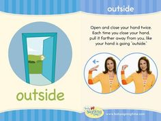 Signing Time Sign of the Week: Outside included a video!
