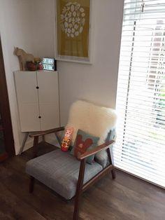 ikea Ekenaset chair, Jane foster softie, Donna Wilson cushion, ikea ps 2014 cabinet, bold and noble print.