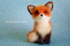 SaniAmaniCrafts: Needle felting - (part XII - Little Red Fox)
