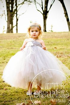 Hey, I found this really awesome Etsy listing at http://www.etsy.com/listing/174667727/grey-flower-girl-tutu-dress