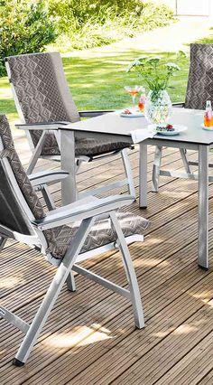 Multipositionssessel Für Den Garten   Gartenstuhl Verstellbar   Kettler HKS  Forma II Multipositionssessel Aus Aluminium Und