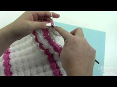▶ Baby Doll Puff Shell Afghan Border Free Crochet Pattern - Right Handed - YouTube