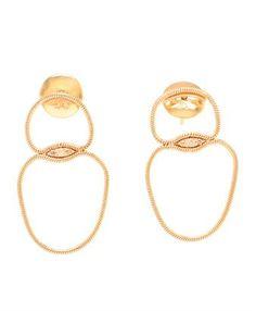FERNANDO JORGE - 18k Rose Gold and Diamond Fluid Drop Earrings