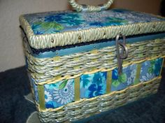 Vintage sewing box-sweet fabric trim