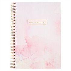 A4 Spiral Notebook - Watercolour, Pink