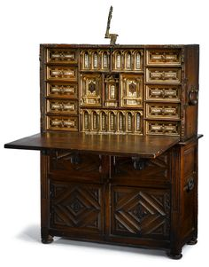 Z. Sierra · Antiques and Decorative Objects · SPANISH CABINET WITH BASE 17TH CENTURY, Furniture, Antiques