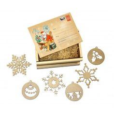 """Подарочный набор """"Посылка с подвесками Дед Мороз пишет письмо"""""""