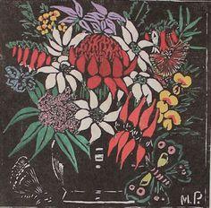 Last month our topic to study in the Waverley Art Quilters was Margaret Preston. Margaret Preston was an Australian Artist who was born in. Australian Wildflowers, Australian Native Flowers, Henri De Toulouse Lautrec, Australian Painting, Australian Artists, Gustav Klimt, Tile Art, Mosaic Art, Mosaics