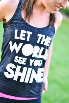 Shine on! Proceeds go to the Shine Project Scholarship Fund. #Shine_Project #Tank