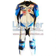 Mat Mladin Suzuki Motorcycle AMA 2002 Leathers - https://www.leathercollection.us/en-we/mat-mladin-suzuki-motorcycle-leathers.html Suzuki apparel, Suzuki Motorcycle leathers #SuzukiApparel, #SuzukiMotorcycleLeathers