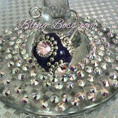 Purple bauble wine glass charm