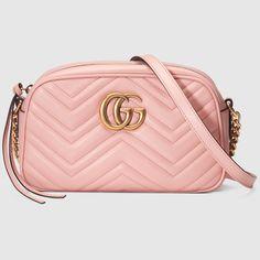 f2957744de5c GG Marmont small matelassé shoulder bag. Gucci BagsGucci HandbagsPink ...