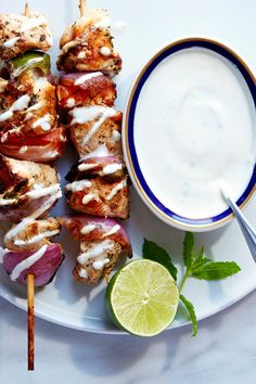 Use this yogurt sauce to garnish lamb, chicken or fish kebabs. (Photo: Jessica Emily Marx for The New York Times)