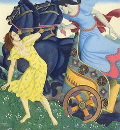 Edmund Dulac (1882-1953) Pluto and Persephone Watercolour and gouache on pap