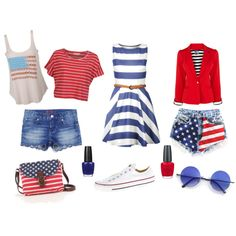 """""""Fourth of July Fashion!"""" by lyndseycamille on Polyvore"""
