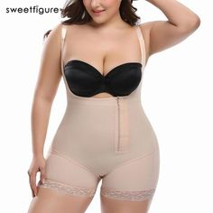 2ab855b7b7 Plus Size Women s Hot Body Shaper Slimming Underwear Girdle Bodysuit Waist  Shaper Reductoras Shapewear for Women