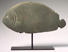 Image: Predynastic Period Egyptian - Tilapia fish palette, Late Naqada II-III Period, c.3300-3000 BC (green schist)