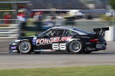 The #66 Forgeline Porsche at Speed at the Brickyard