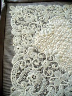 Cindy Needham: Battenburg Lace Hankie...Progress Notes