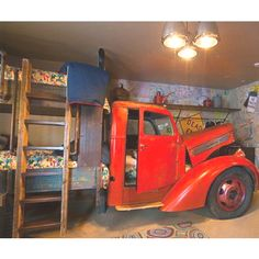 Awesome idea - truck bunk bed