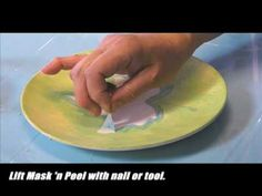 ▶ Quick & Easy - Mask 'n Peel - YouTube.  Using Duncan's resist products on bisque pottery ceramics.