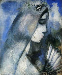 Marc Chagall - Bride with Fan [1911]