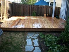 freestanding wood deck | ... deck Ground level cedar deck with natural stone pavers – Deck