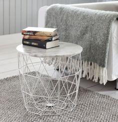 Bord metall med marmorplate -        Heimla