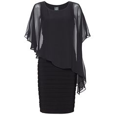 bodycon dress with chiffon overlay - nor quite sleeves but fab for covering arms :-)