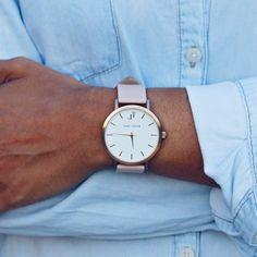 THE NOOSA Blush and Rose Gold Women's watch style. John Taylor Watches. Australian Minimal watch style.