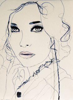 Twilight Blue Fashion Illustration Art Print