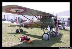 """Morane-Saulnier - AI Master - F-AZAP, French WWI """"parasol"""" winged fighter. Les Casques de Cuir (Leather Helmets) - Collection Salis, Ferte Alais - LFFQ, 29.05.2004."""