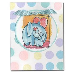 1004-Elephant Love card