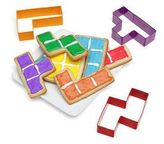 Tetris Cookie Cutters ... For high quality cookie boxes please visit us at  www.betterbakersbox.com