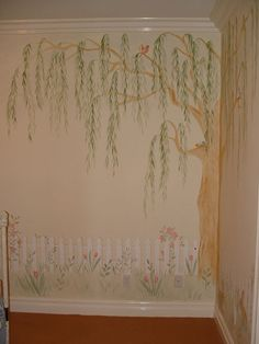 Willow tree painted wall